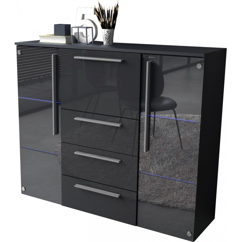 Sideboard with glass door + LED