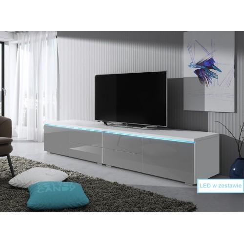 Duża szafka RTV 11 z LED  /  200 cm