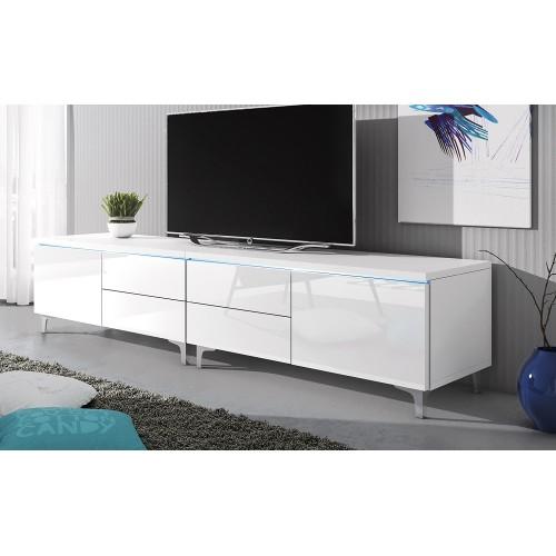 Duża szafka RTV 11W z LED  /  200 cm